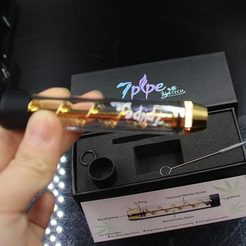 Newest Twisty Glass Blunt With Filter System And More Accessories 7pipe Twist me cigarette vapor