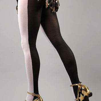 Half in Half Opaque Tights