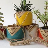 Gladstone Hanging Planter - Handmade Painted Ceramics - Various Colours
