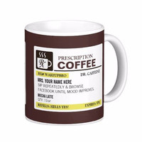 Funny Prescription White Coffee Mugs Tea Mug Customize Gift By LVSURE Ceramic Mug Travel Coffee Mugs