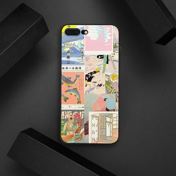 Japanese Retro Comics Collage Phone Case