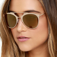 Top Stun Gold Sunglasses