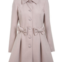 Nude Bow Detail Coat - View All  - New In