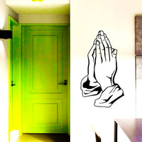 Wall Decal Vinyl Sticker Prayer Hands Religion Art Design Room Nice Picture Decor Hall Wall NA118