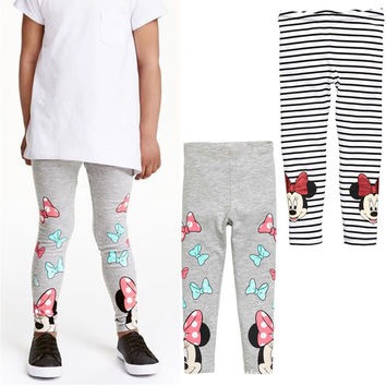 Baby Girls Leggings 2016 New spring Children Girls Pants Warm Minnie Mouse Kids Baby Girls Dress Leggings