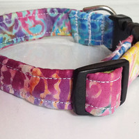 Colorful Tie Dye Girl Dog or Cat Collar