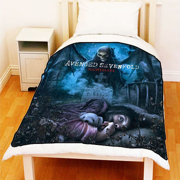 AVENGED SEVENFOLD Nightmare Photo A7X Album Fleece Blanket Bed Throw New Gift