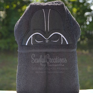 Darth Vader hooded towel, blanket, star wars blanket, christmas gift, star wars gift, dark side towel, birthday gift, personalized kids