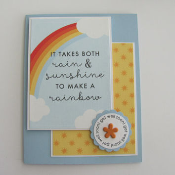 Get Well Card, Rainbow Card