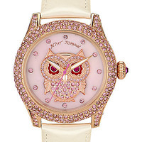 BetseyJohnson.com - CRYSTAL OWL WATCH WHITE