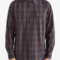 OBEY Bristol Woven Button-Down Shirt- Charcoal