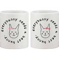Cute BFF Coffee Mugs for Best Friends - Every Bunny Needs a Best Bunny Cup