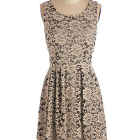 ModCloth Mid-length Sleeveless A-line Admirable Octaves Dress