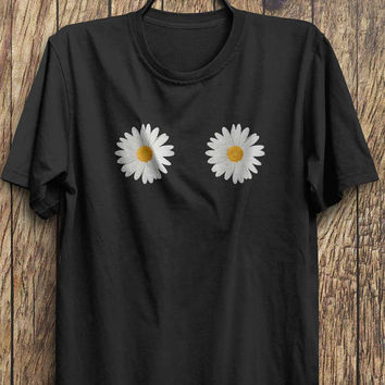 Daisy Flower Top - Daisies T Shirts, flower child tops tumblr fashion, instagram fashion funny tops, #ootd, #instafashion, #hipster, #wiwt