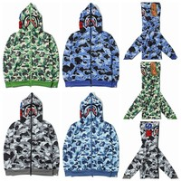 Couple Camouflage Peep Toe Fleece Hats Jacket [11182507975]