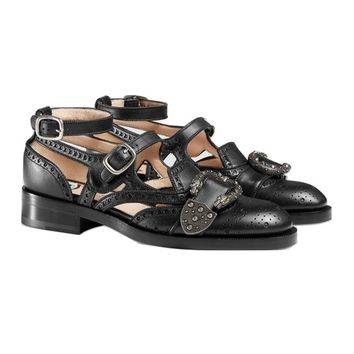 Indie Designs Queercore Cut-out Brogue Monk Shoes