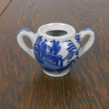 Blue Willow Sugar Bowl Vintage Toy China Childrens Extra - Great As a Replacement or Addition to a Collection Toy Sugar Bowl - Made in Japan