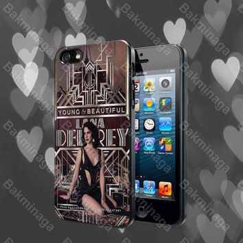 Lana Del Rey Great Gatsby Design case for iPhone 4, 4S, 5, 5S, 5C and Samsung Galaxy s2, s3, s4