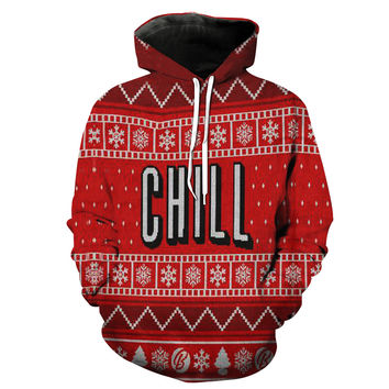 Netflix and Chill Christmas Hoodie