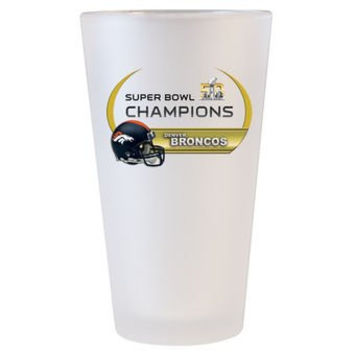 NFL Officially Licensed Denver Broncos Super Bowl 50 Champions Frosted Pint Glass