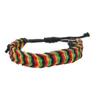 Rasta Woven Bracelet | Hot Topic