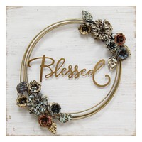 """""""Blessed"""" Cottage Wall Decor By Stratton Home Décor"""