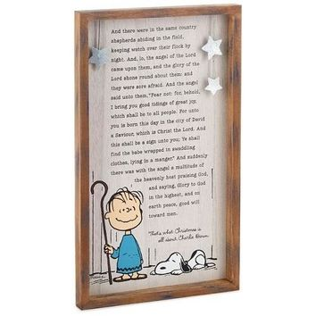 Peanuts Linus' Christmas Speech Wood Sign