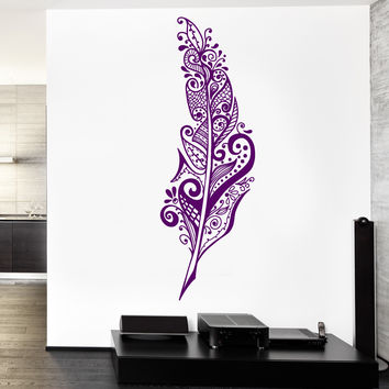 Wall Vinyl Decal Feather Dreamcatcher Bedroom Romantic Decor z3774
