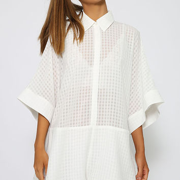 The Fifth Label - Better Than Sunday Playsuit - White