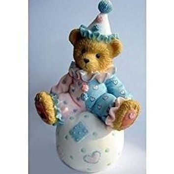 Cherished Teddies WALLY, Clown on Ball Figurine, 103934