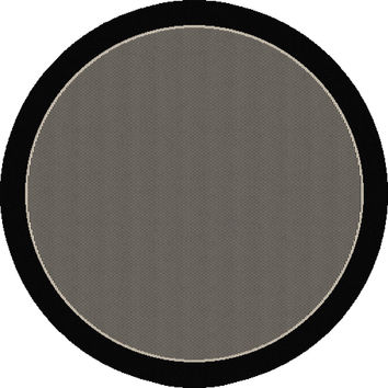 Dynamic Rugs Piazza Black Modern Round Area Rug