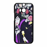 Malficient Disney Floral HTC One M8 Case