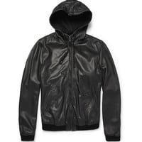 Dolce & Gabbana Hooded Leather Jacket | MR PORTER