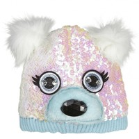 Sequin Polar Bear Beanie Hat