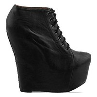 Jeffrey Campbell 99 Tie 2 in Black at Solestruck.com
