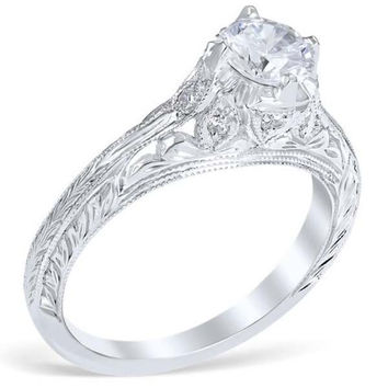 "Whitehouse Brothers ""Novara"" Diamond Engagement Ring"