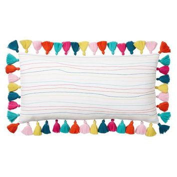 Lennon & Maisy Tassel Pop Lumbar Pillow Cover