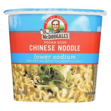 Dr. Mcdougall's Chinese Noodle Lower Sodium Soup Cup - Case Of 6 - 1.4 Oz.