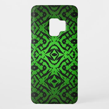 Green tribal shapes pattern Case-Mate samsung galaxy s9 case