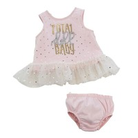 Mud Pie DOLL BABY DRESS & BLOOMER SET
