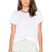 LNA Ringer Tee in White
