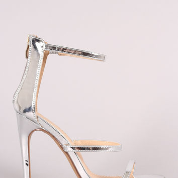 Liliana Mirrored Patent Triple Straps Single Sole Heel