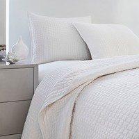 Vince Camuto® Lyon Crocodile Coverlet in White
