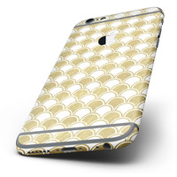 The White and Gold Foil v2 Six-Piece Skin Kit for the iPhone 6/6s or 6/6s Plus