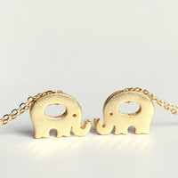 elephant necklace - delicate gold jewelry