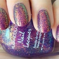 Kleancolor Chunky Holo PURPLE Glitter Nail Polish FREE SHIPPING by Lucky 13 Boutique
