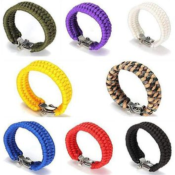 Umbrella rope bracelet 4mm Parachute Cord paracord rope bracelet for Outdoor Climbing Camping Survival tools