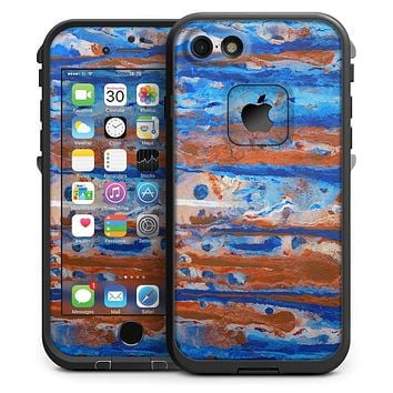 Abstract Wet Paint Rustic Blue - iPhone 7 LifeProof Fre Case Skin Kit