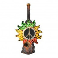 Rasta Sun Wood Pipe 5.5""