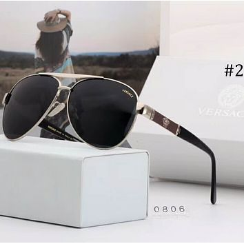 Versace large frame polarized sunglasses color film fashion sunglasses F-A-SDYJ #2